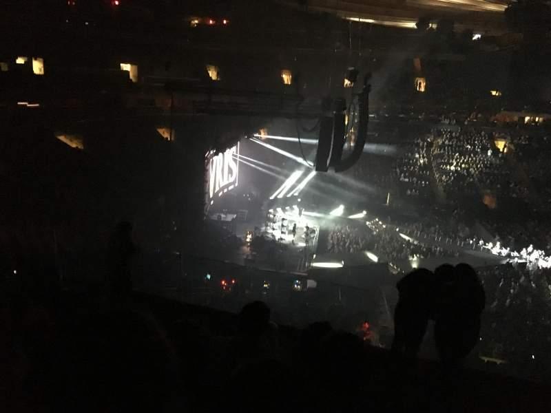 Vista sentada para Madison Square Garden Secção 222 Fila 7 Lugar 11