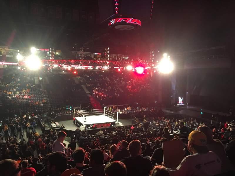 Vista sentada para Bridgestone Arena Secção 104 Fila M Lugar 9
