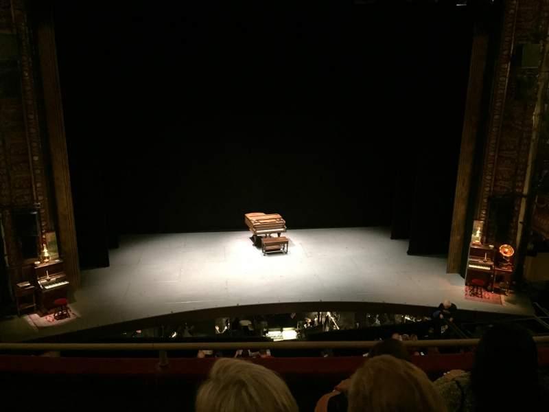 Vista sentada para Palace Theatre (Broadway) Secção Mezzanine Center Fila D
