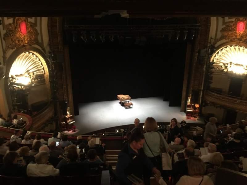 Vista sentada para Palace Theatre (Broadway) Secção Mezzanine Fila J Lugar 111