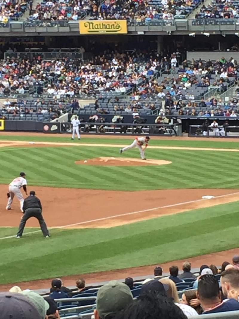 Vista sentada para Yankee Stadium Secção 129 Fila 24 Lugar 10