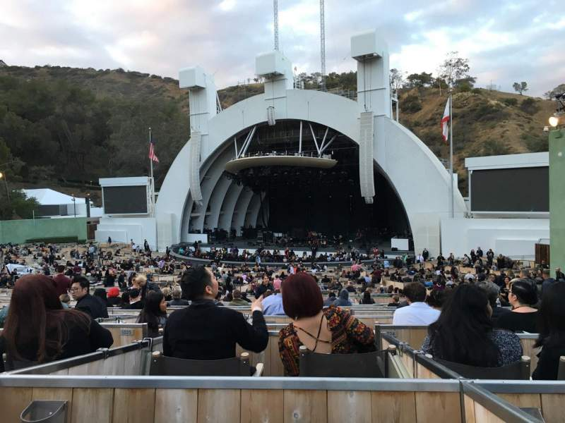 Vista sentada para Hollywood Bowl Secção Terrace 2