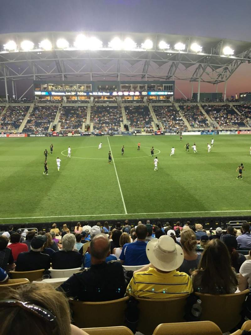 Vista sentada para Talen Energy Stadium Secção 127 Fila R Lugar 16