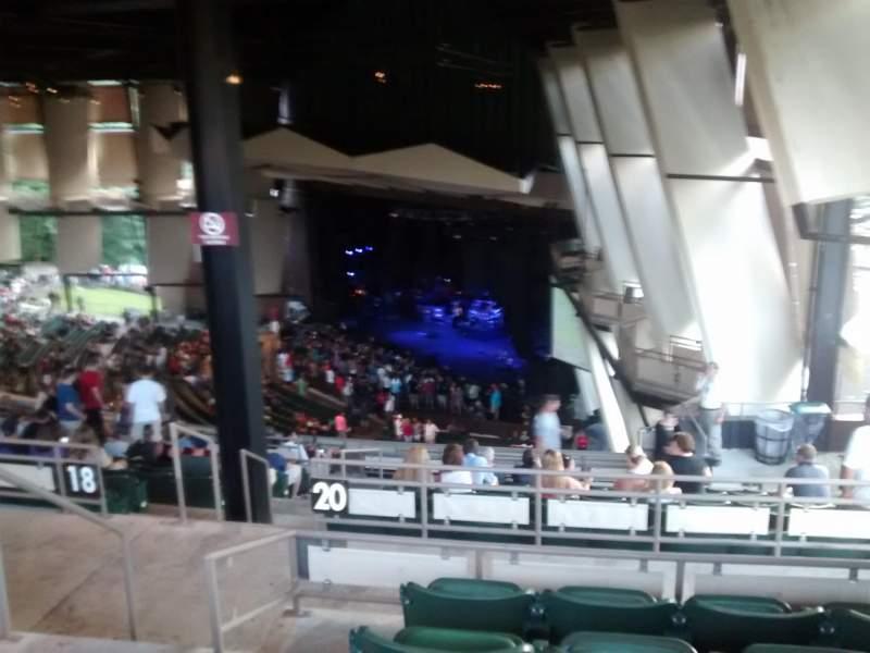 Vista sentada para Saratoga Performing Arts Center Secção 30 Fila n Lugar 4