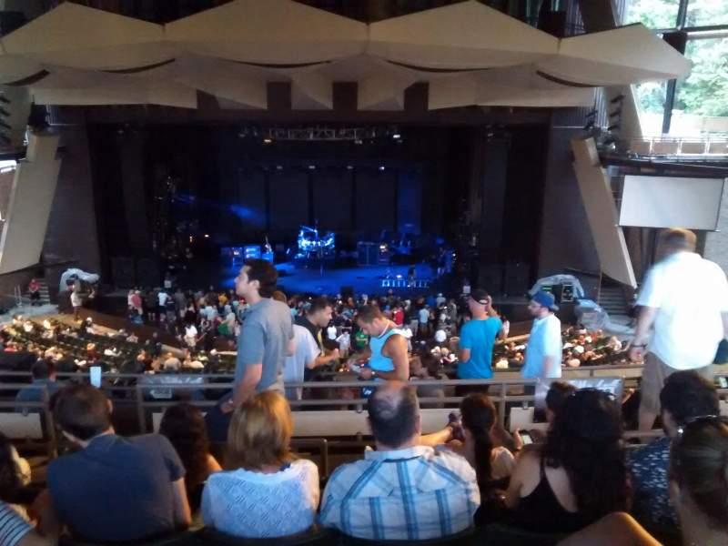 Vista sentada para Saratoga Performing Arts Center Secção 15 Fila g Lugar 20