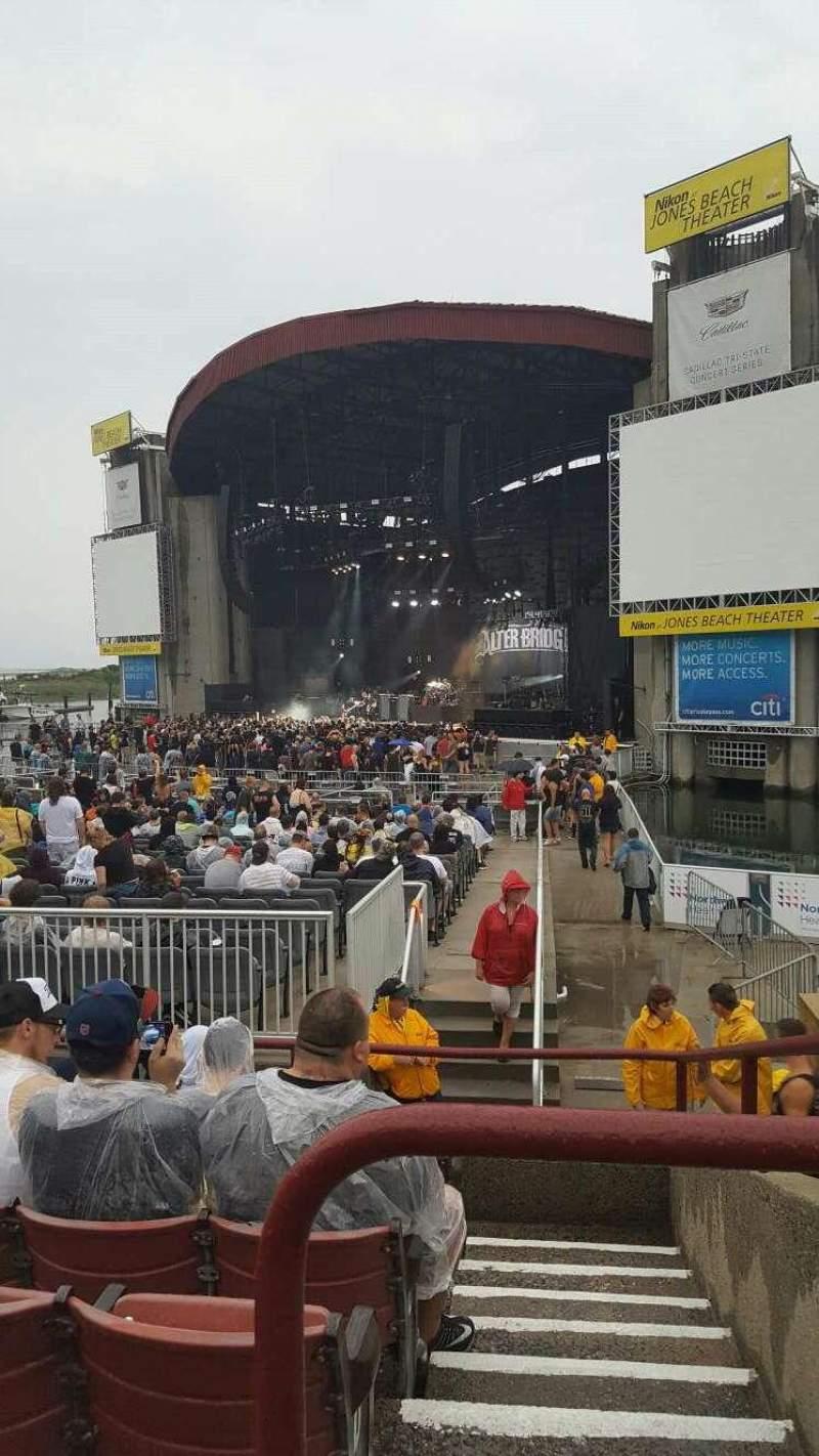 Vista sentada para Jones Beach Theater Secção 1 Fila G Lugar 2