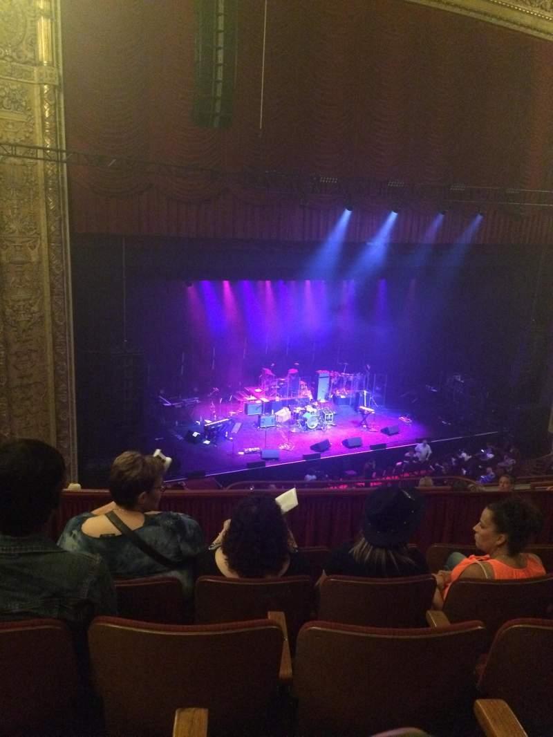 Vista sentada para Chicago Theatre Secção Balcony2L Fila E Lugar 219