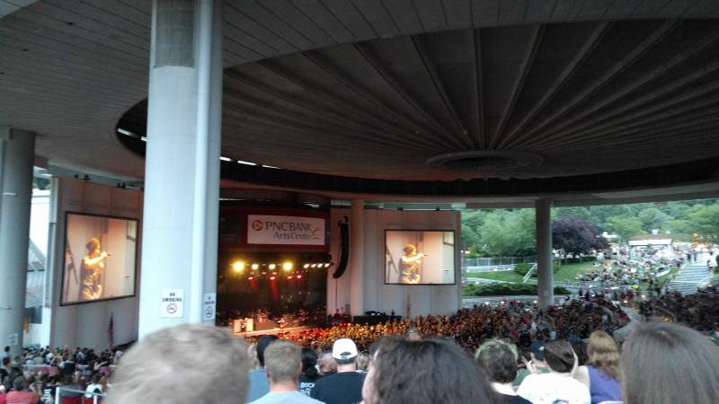 Vista sentada para PNC Bank Arts Center Secção 404 Fila L Lugar 183
