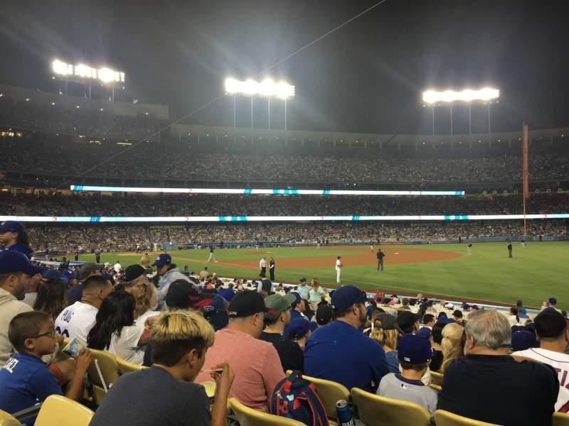Vista sentada para Dodger Stadium Secção 42FD Fila M Lugar 1