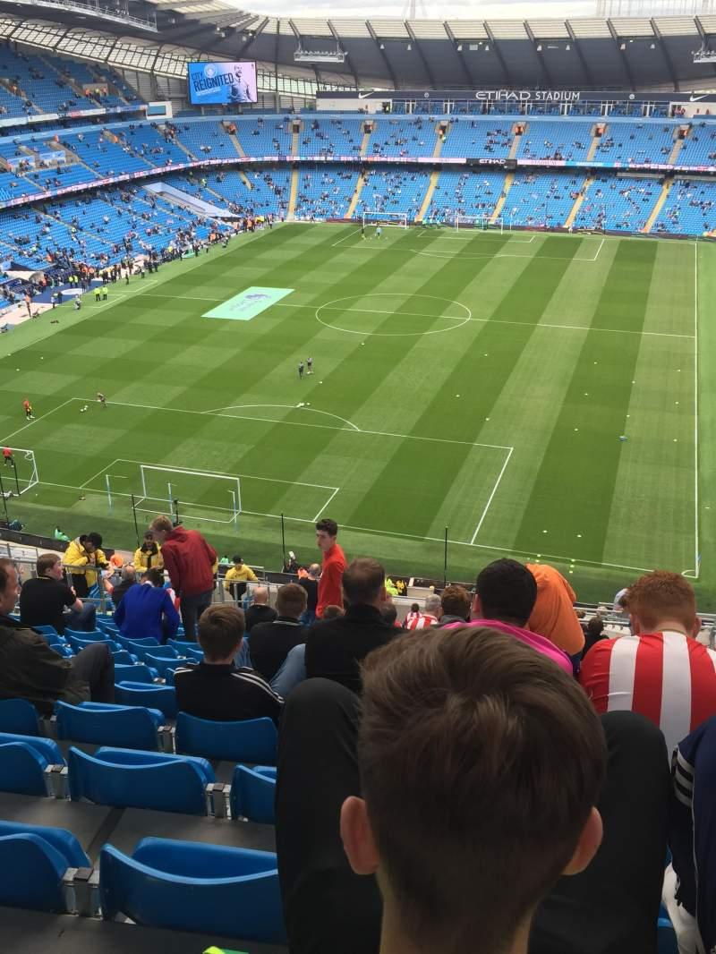 Vista sentada para Etihad Stadium (Manchester) Secção 314 Fila AA Lugar 356