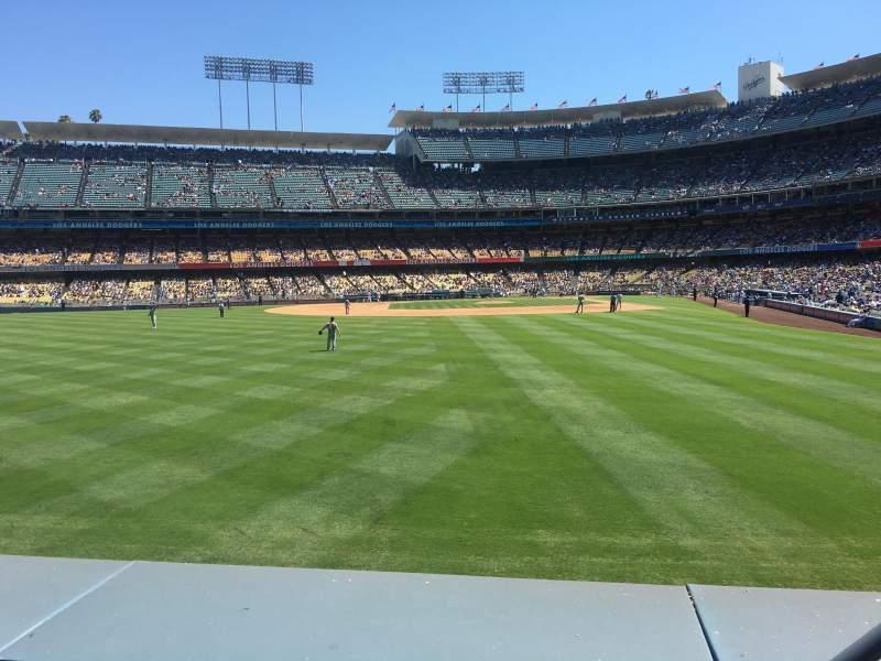 Vista sentada para Dodger Stadium Secção 303PL Fila A Lugar 3