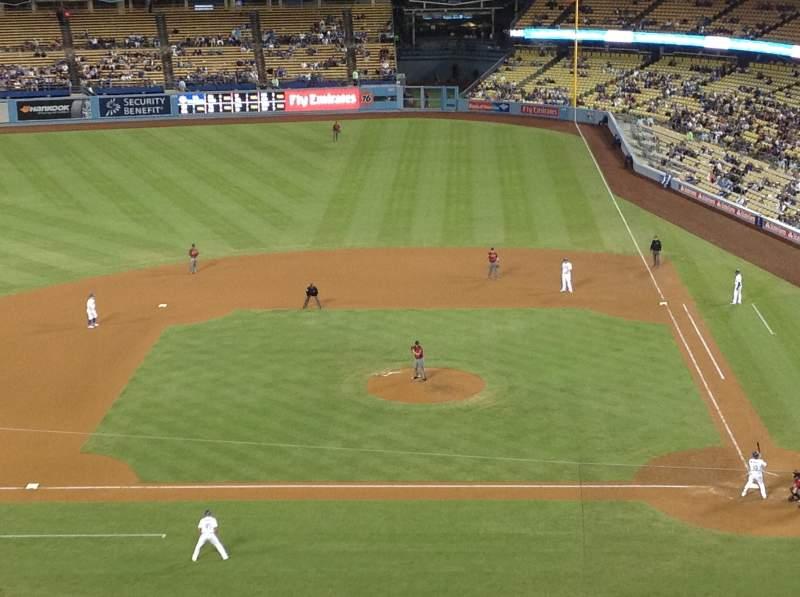 Vista sentada para Dodger Stadium Secção 11RS Fila G Lugar 8