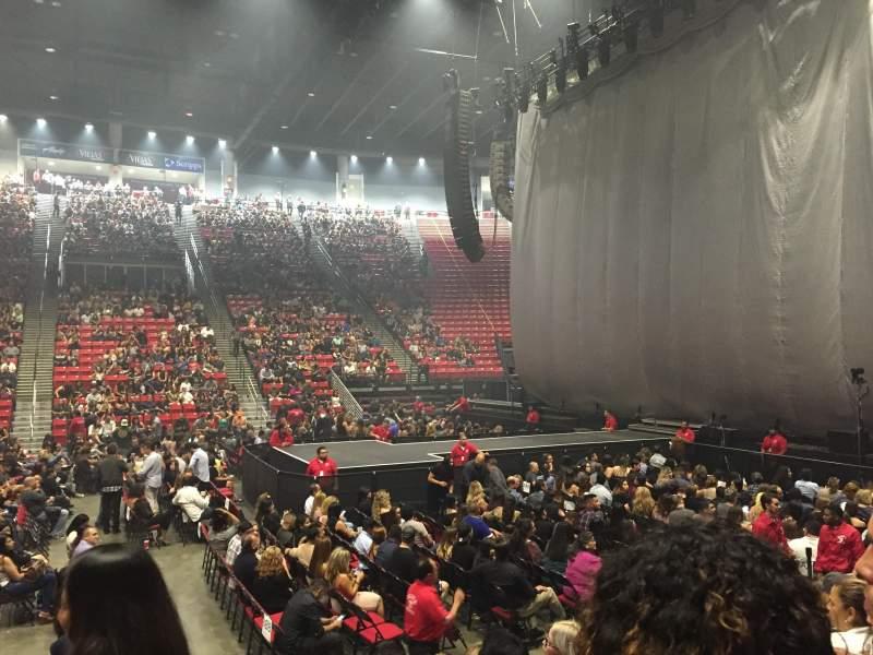Vista sentada para Viejas Arena Secção F Fila 7 Lugar 14