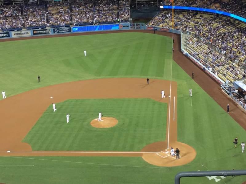 Vista sentada para Dodger Stadium Secção 11TD Fila E Lugar 1