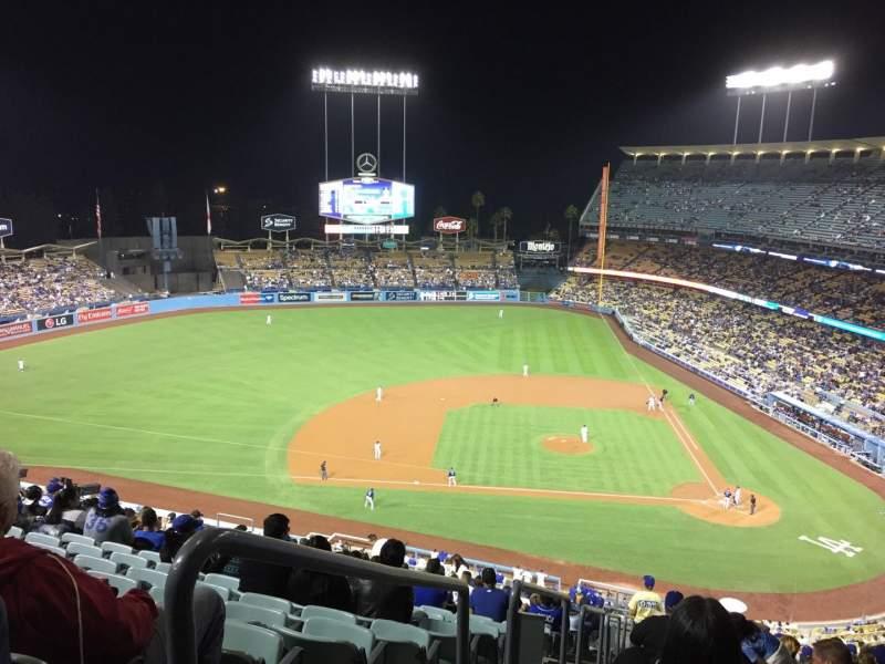 Vista sentada para Dodger Stadium Secção 11RS Fila U Lugar 24