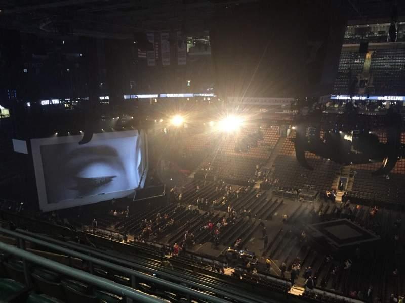 Vista sentada para Scotiabank Arena Secção 308 Fila 10 Lugar 14