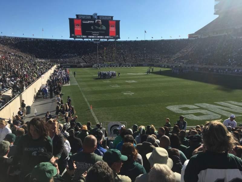 Vista sentada para Spartan Stadium Secção 3 Fila 17 Lugar 33