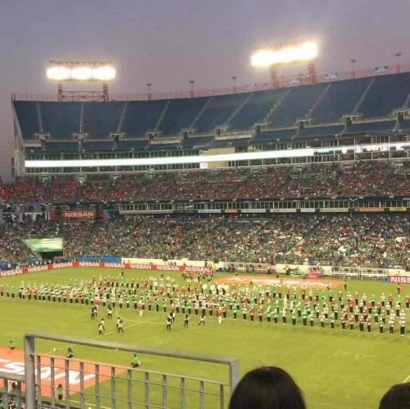 Vista sentada para Nissan Stadium Secção 231 Fila C Lugar 10