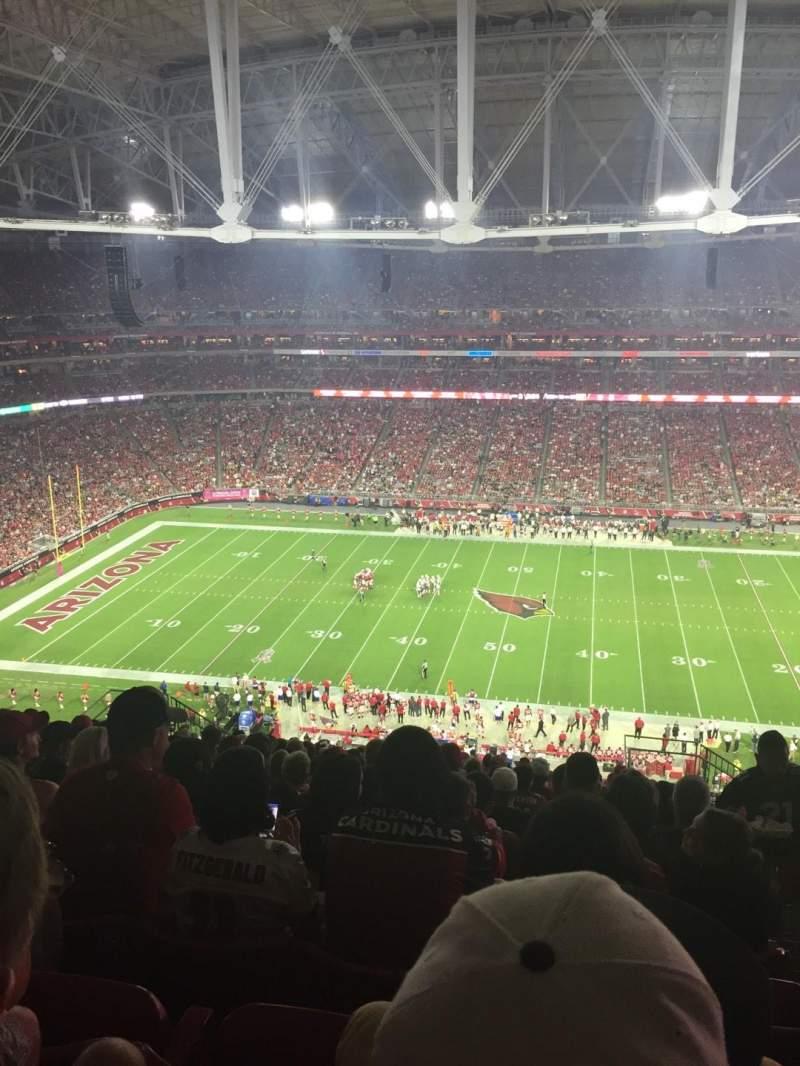 Vista sentada para State Farm Stadium Secção 412 Fila 17 Lugar 2
