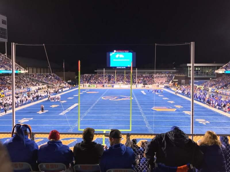 Vista sentada para Albertsons Stadium Secção 133 Fila B Lugar 13