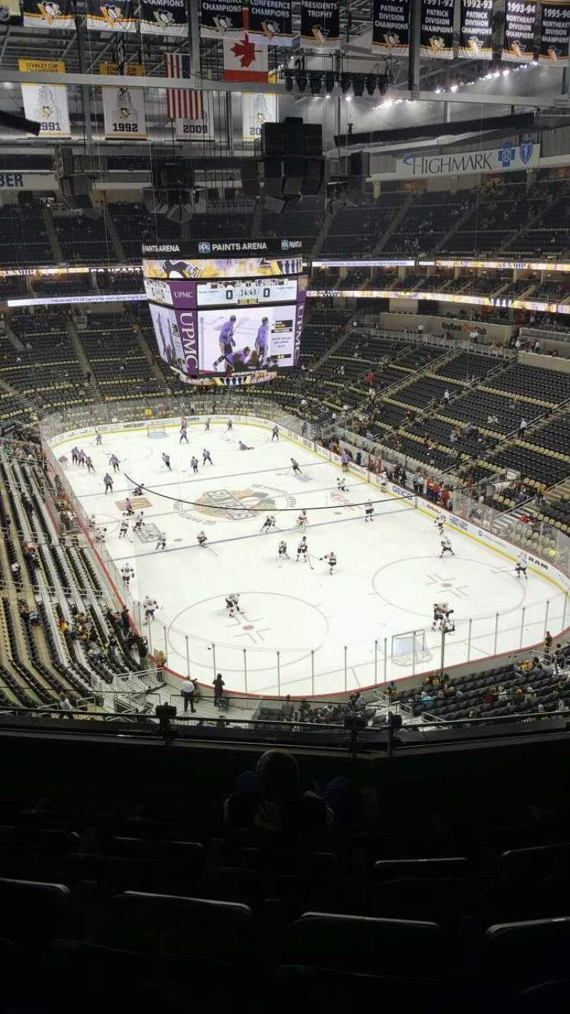 Vista sentada para PPG Paints Arena Secção 213 Fila E Lugar 10