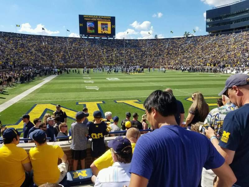 Vista sentada para Michigan Stadium Secção 35 Fila 4 Lugar 1