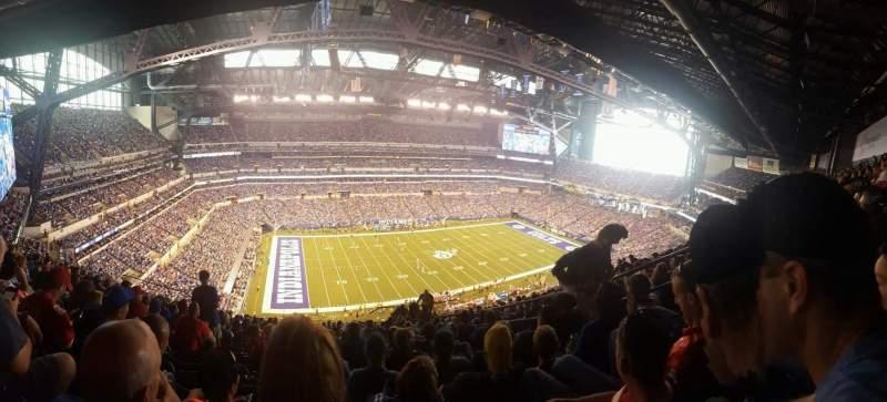 Vista sentada para Lucas Oil Stadium Secção 617 Fila 17 Lugar 6