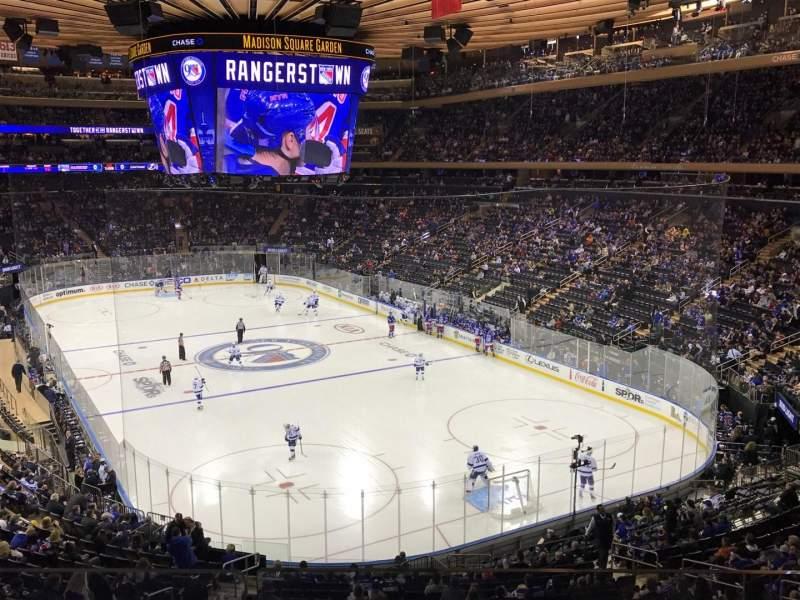 Vista sentada para Madison Square Garden Secção 202 Fila 2 Lugar 13