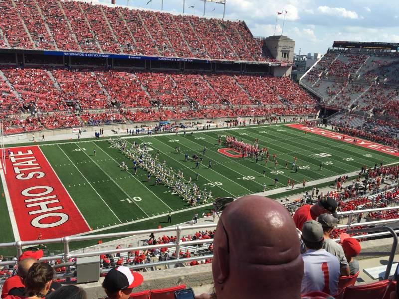 Vista sentada para Ohio Stadium Secção 13C Fila 6 Lugar 25