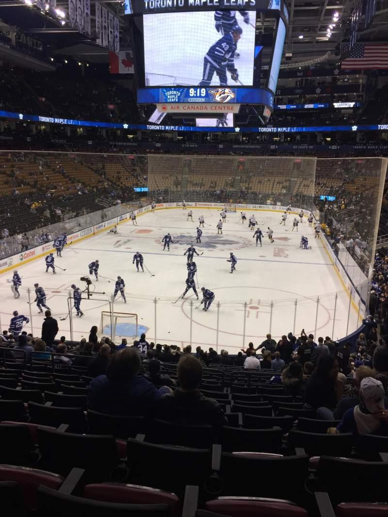 Vista sentada para Scotiabank Arena Secção 102 Fila 25 Lugar 5