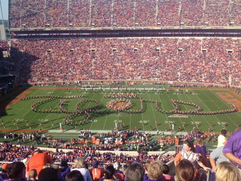 Vista sentada para Memorial Stadium, Clemson Secção TDE Fila G Lugar 5-7