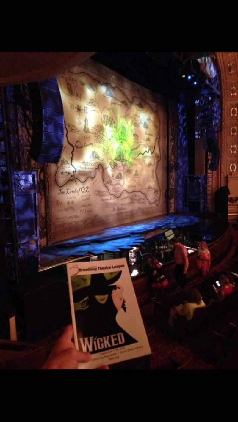 Vista sentada para Morris Performing Arts Center Secção BOX LL Fila D Lugar 2