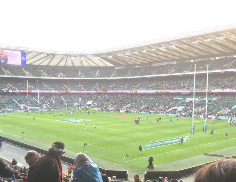 Vista sentada para Twickenham Stadium Secção L19 Fila 38 Lugar 10