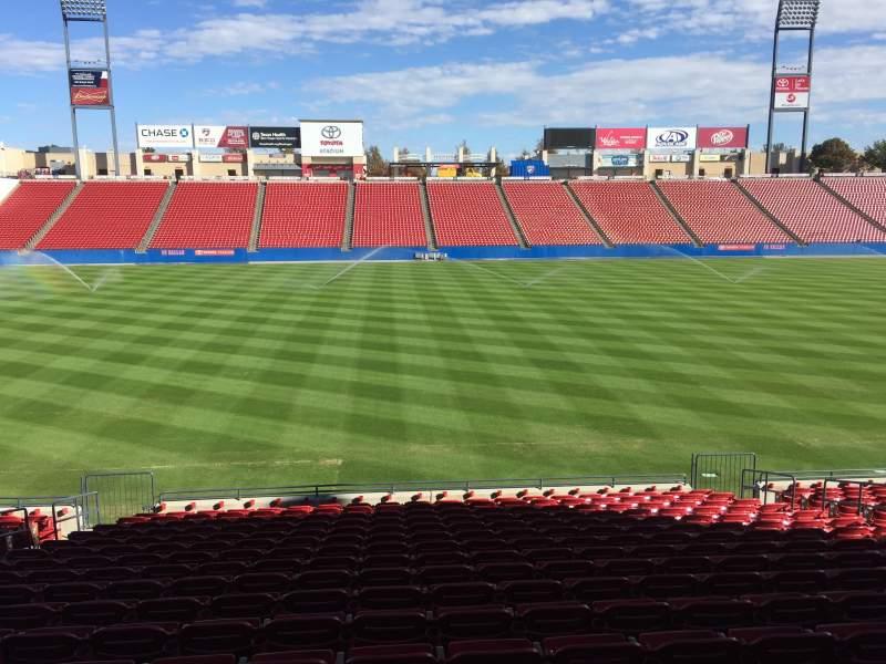Vista sentada para Toyota Stadium Secção 105 Fila 17 Lugar 11
