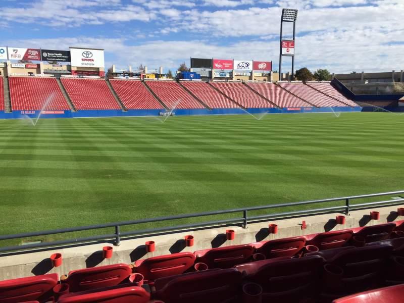 Vista sentada para Toyota Stadium Secção 103 Fila 4 Lugar 15
