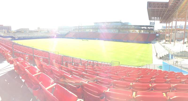 Vista sentada para Toyota Stadium Secção 132 Fila 6 Lugar 6