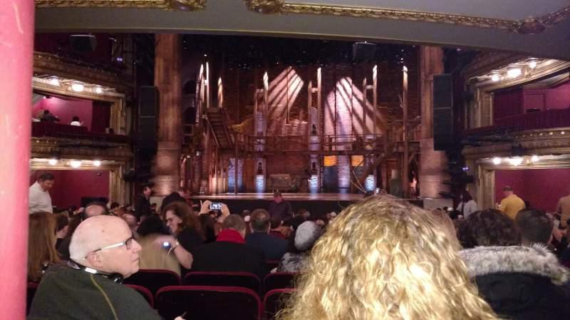 Vista sentada para CIBC Theatre Secção Orchestra C Fila W Lugar 116