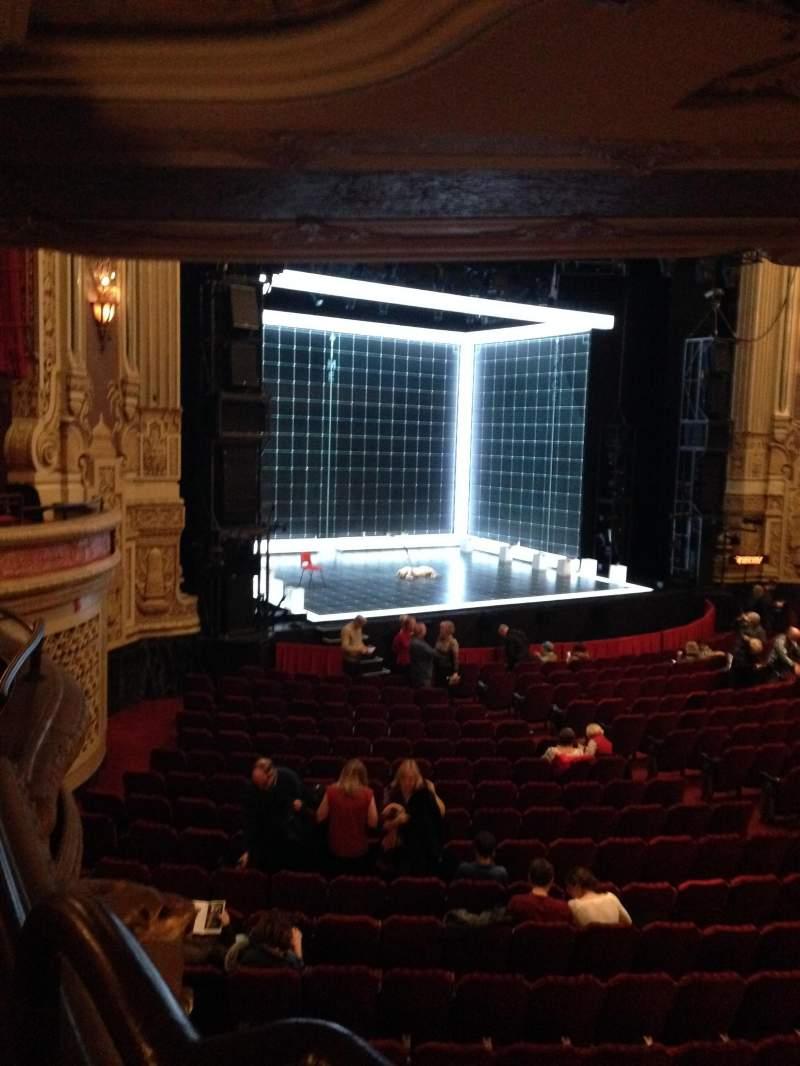 Vista sentada para James M. Nederlander Theatre Secção Dress Circle L Fila GG Lugar 1