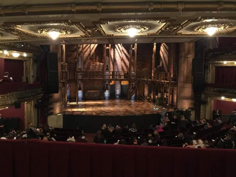 Vista sentada para CIBC Theatre Secção Dress Circle LC Fila B Lugar 223
