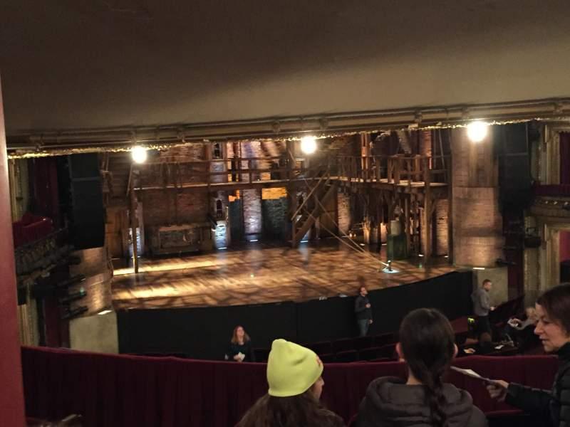 Vista sentada para CIBC Theatre Secção Dress Circle LC Fila E Lugar 235-237