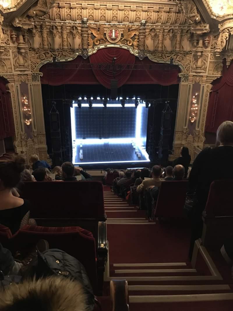 Vista sentada para James M. Nederlander Theatre Secção Balcony LC Fila O Lugar 321