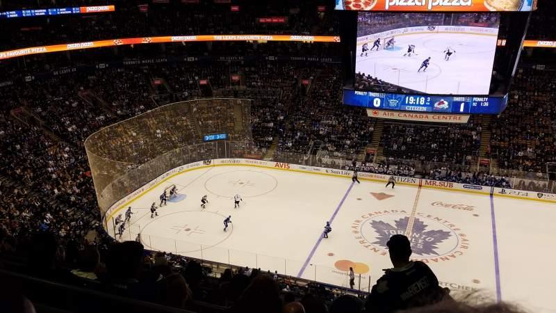 Vista sentada para Scotiabank Arena Secção 309 Fila 14 Lugar 7