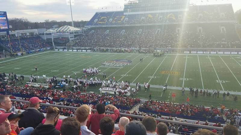 Vista sentada para Navy-Marine Corps Memorial Stadium Secção 126 Fila 4 Lugar 2