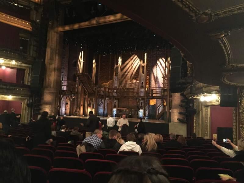 Vista sentada para CIBC Theatre Secção Orchestra R Fila S Lugar 14
