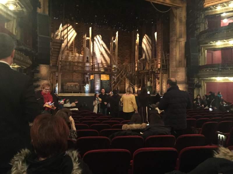 Vista sentada para CIBC Theatre Secção Orchestra L Fila R Lugar 9