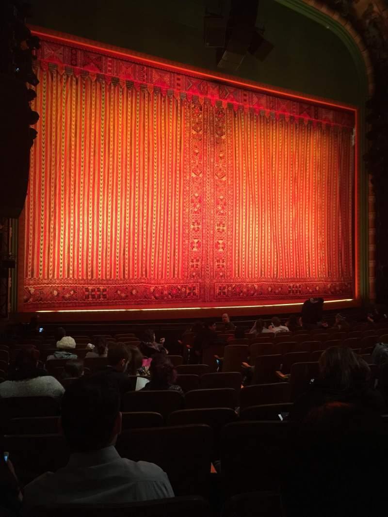 Vista sentada para New Amsterdam Theatre Secção Orchestra L Fila N Lugar 11