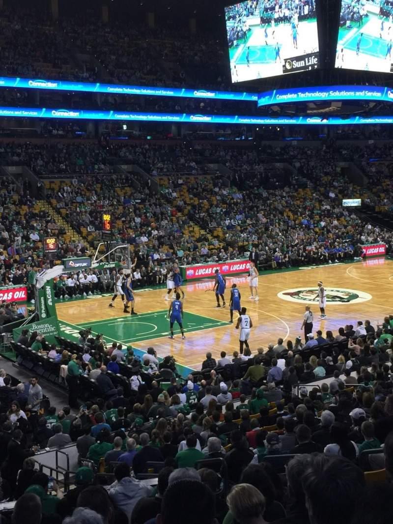 Vista sentada para TD Garden Secção Loge 15W Fila 15 Lugar 6