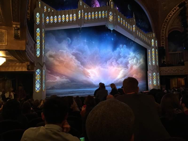 Vista sentada para Eugene O'Neill Theatre Secção Orchestra L Fila N Lugar 21