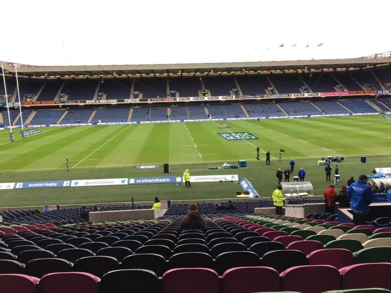 Vista sentada para Murrayfield Stadium Secção W21 Fila Mm Lugar 28