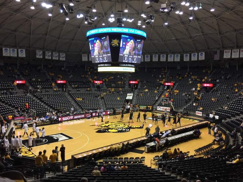 Vista sentada para Charles Koch Arena Secção 112 Fila 23 Lugar 7
